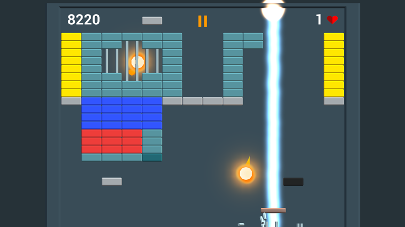 Brick Breaker 2D- screenshot