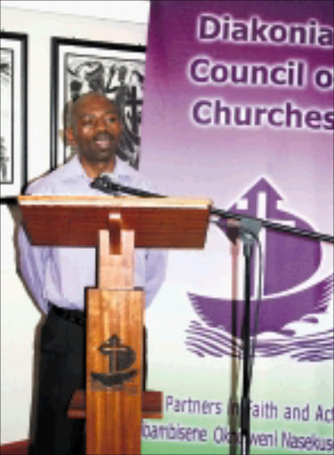 MILITANT: Sbu Zikode giving the Diakonia Council of Churches lecture in Durban. © Sowetan.