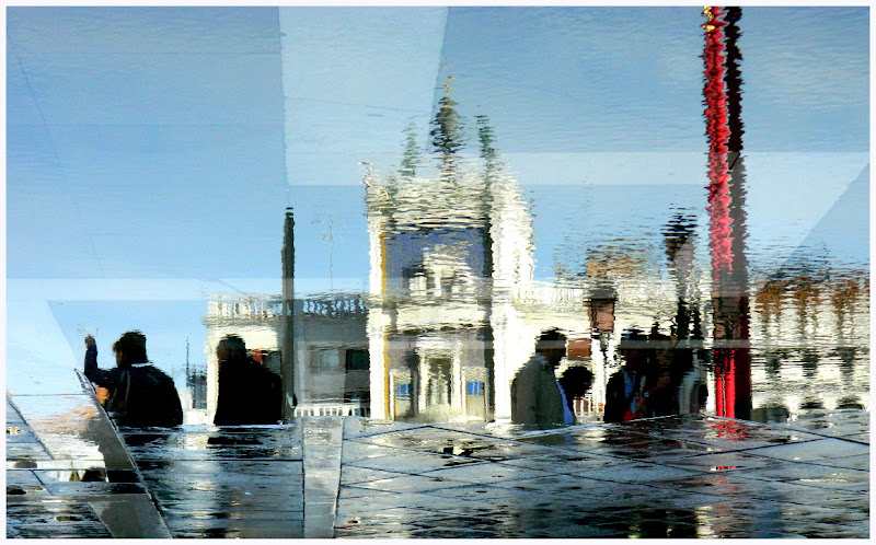 Riflessi nell'acqua alta di lucaldera