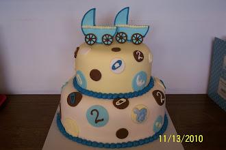 Photo: Twins Baby Shower Cake