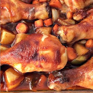Sweet & Sticky Chicken Casserole.