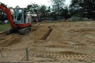 Photo: Første gravning vedr. vores parcelhus.