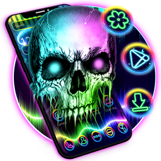 Neon Technology Colorful Hell Death Skull Theme Android APK Download Free By Better_theme_beauty_androidphone