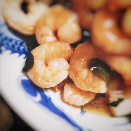 chinese, dragon well tea, green tea, Longjing tea, recipe, seafood, shrimp, stir fry, 綠茶, 蝦仁, 龍井, 炒,