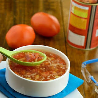 Tomato, Cabbage and Bean Soup.
