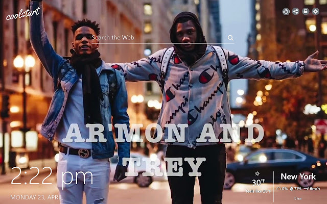 Armon and Trey HD Wallpaper RnB New Tab Theme