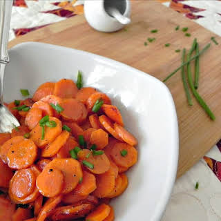 Honey Glazed Carrots with Chives.