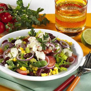 Feta, Sweet Corn and Kidney Bean Salad.
