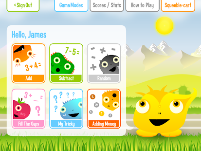 Squeebles Addition Subtraction- screenshot thumbnail
