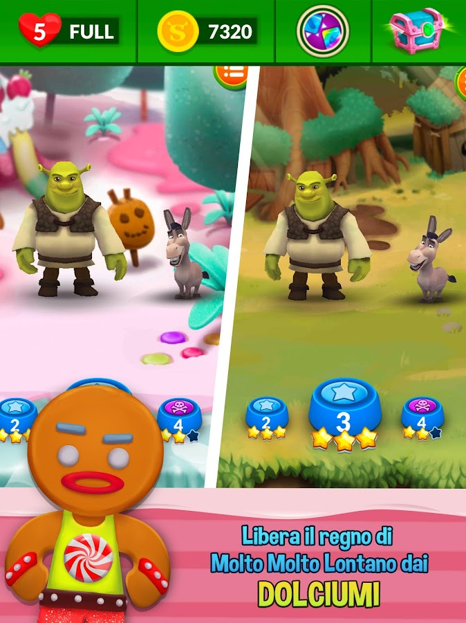 Shrek Sugar  - Avventura puzzle- screenshot