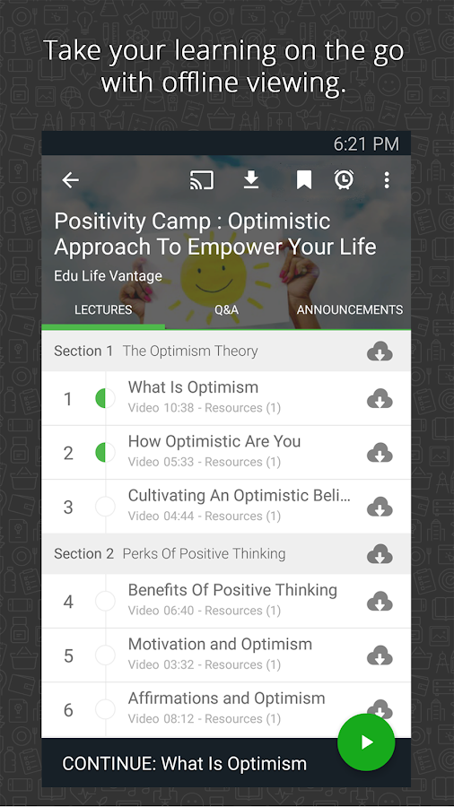 Screenshots of Udemy Online Courses for iPhone