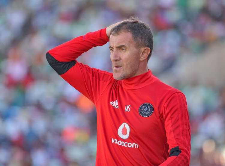 Milutin Sredojevic, head coach of Orlando Pirates during the Absa Premiership 2017/18 game between Bloemfontein Celtic and Orlando Pirates at Dr Molemela Stadium, Bloemfontein on 26 November 2017.