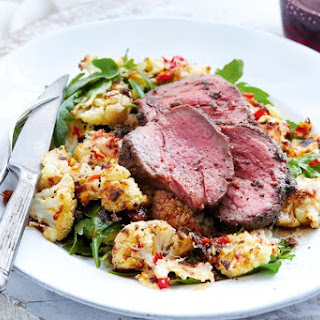 Quick Roast Beef With Chilli Parmesan Cauliflower