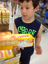 Photo: Will helped me carry the Velveeta 2lb Loaf