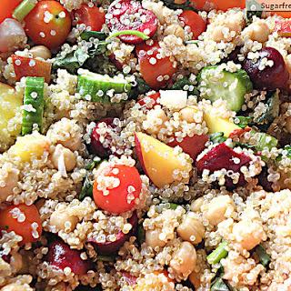Cherry Peach Quinoa Salad
