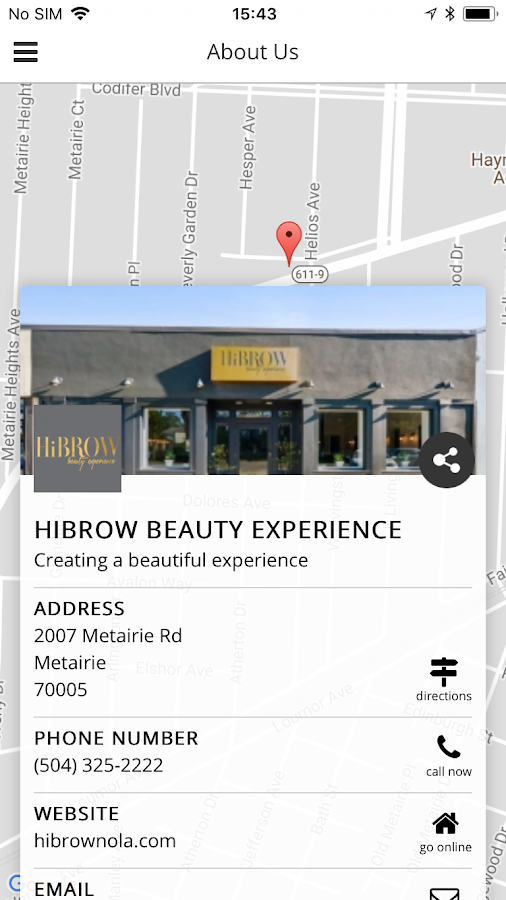 HiBrow Beauty Experience- screenshot