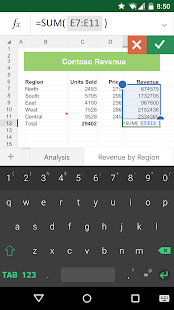 Keyboard for Excel: miniatura de captura de pantalla