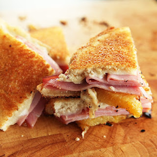 Grilled Cheese with Roasted Pineapple, Ham, and Swiss Recipe