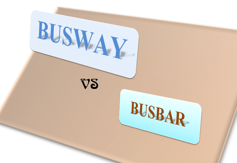 Phân biệt Busbar, Busway, Busduct