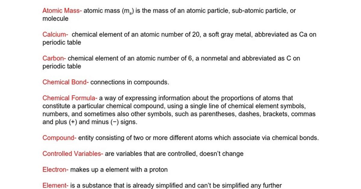 Vocabulary wordsdefinitions google docs urtaz Choice Image
