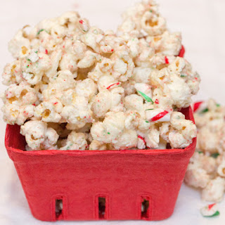 Candy Cane White Chocolate Popcorn