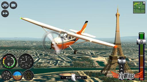Flight Simulator 2015 Flywings - Paris and France apkpoly screenshots 11
