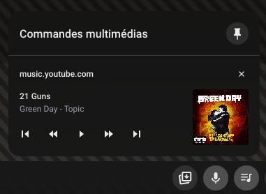 Contrôler tous vos médias depuis la barre d'étagère de Chrome OS