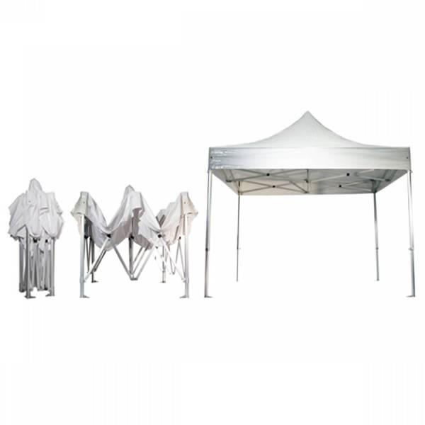 Tent huren uitvouwbaar 3x3m - wit