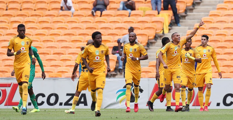 Ryan Moon celebrates goal with teammates during the 2018 Nedbank Cup Last 32 match between Kaizer Chiefs and Golden Arrows at FNB Stadium, Johannesburg South Africa on 11 February 2018.