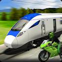Real Crazy Bike VS Train Street Racing 2020 icon