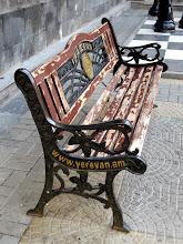 Photo: Puistonpenkki - samaa mallia kuin vaikka Bukarestissa ja Tbilisissä