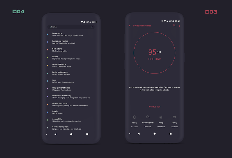 PitchBlack S╶ Samsung Substratum Theme Oreo/One Ui Screenshot 5
