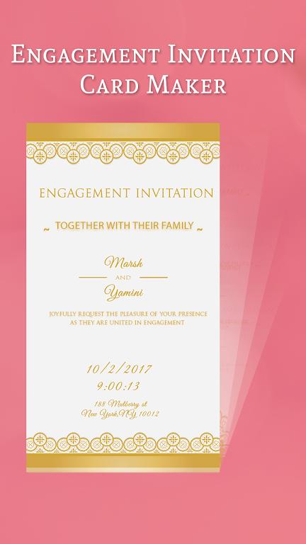 Download Engagement Invitation Card Maker By Seton Foster