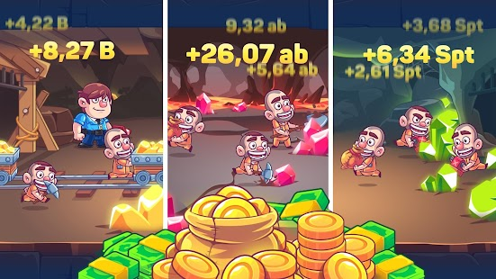 ApkMod1.Com Idle Prison Tycoon: Gold Miner Clicker Game + (Infinite Cash/Coin/Medal) for Android Game Simulation