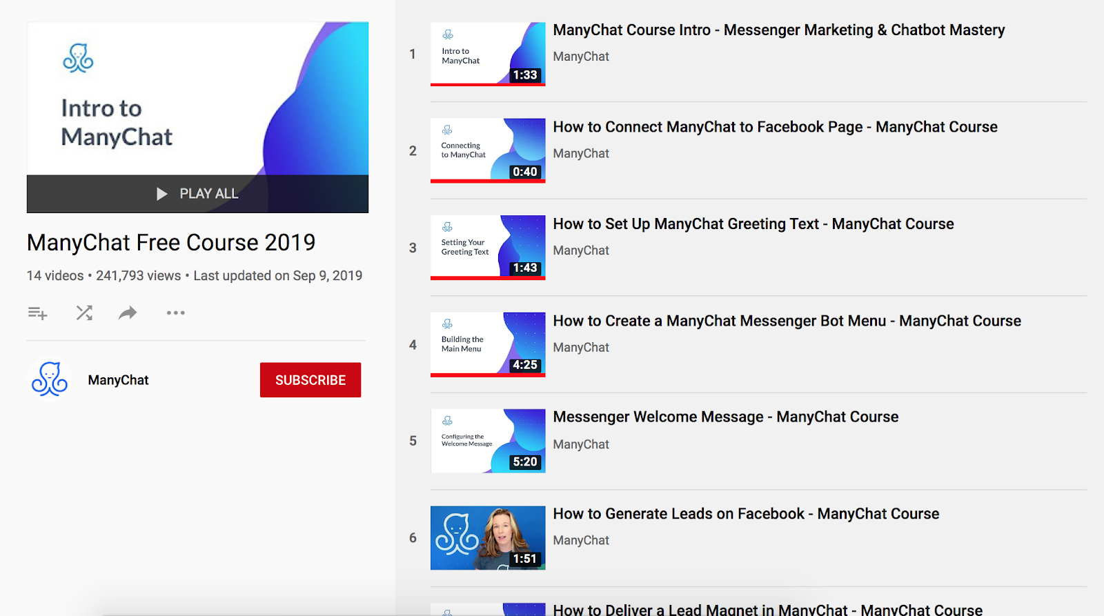 ManyChat's Free Messenger Marketing Course
