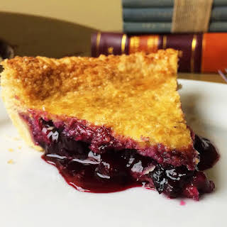 Country Blueberry Pie (by hand).