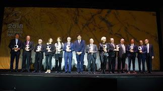 Los galardonados en la XXXII edición de los Premios Macael.