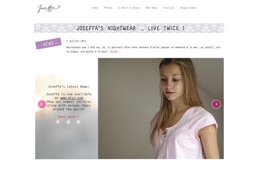 site internet créé par joseffa