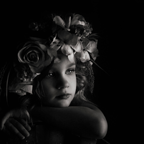 Maiden by Tiona Anglin Appel - Babies & Children Child Portraits ( child, black and white, portrait )