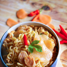 spacy seblak noodle  by Firman Firansyah - Food & Drink Cooking & Baking ( foodie, food shots, noodles, food photography, cooking, photography, food )