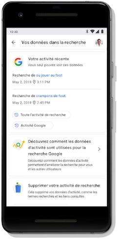 """Écran """"Check-up Confidentialité"""" de votre compte Google"""