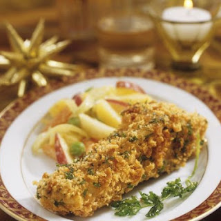 Golden Crisp Fish with Salad