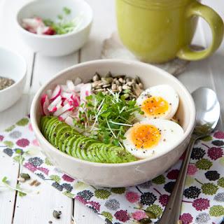 Savoury Oatmeal Avocado And Egg Bowl.