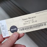 admission ticket at computer history museum in silicon valley in Mountain View, California, United States
