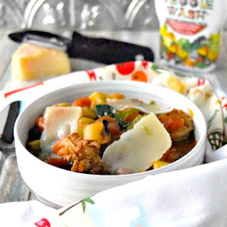 Hearty Vegetable Soup with Tuscan Sausage Recipe