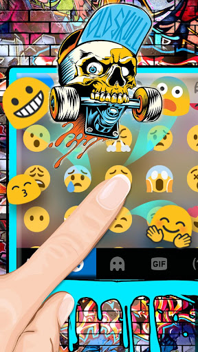 Street Skate Graffiti Keyboard Theme 1.0 screenshots 2