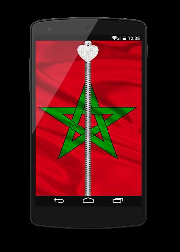 morocco Flag Lock Screen