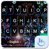 Live New Year Fireworks Keyboard Theme