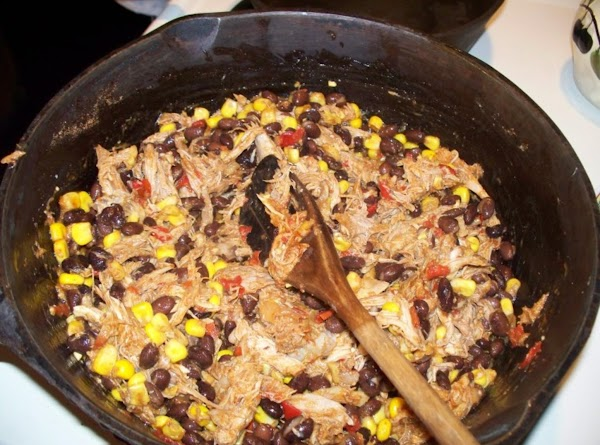 In a large skillet, spray with cooking spray and add the cooked duck, southwestern...