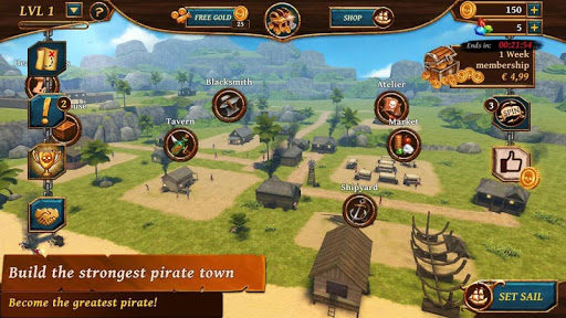 Ships of Battle - Age of Pirates - Warship Battle  screenshots 10